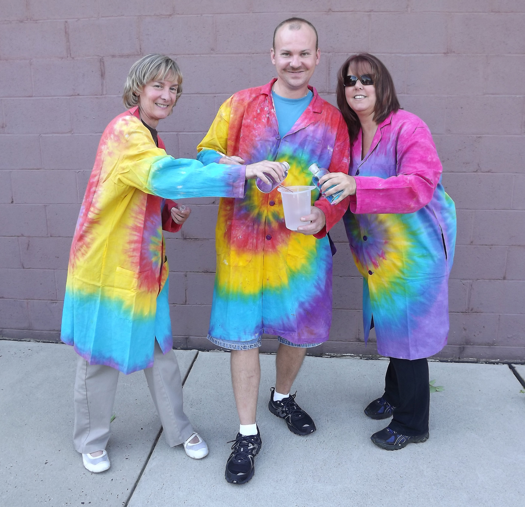 TIE DYE LAB COAT 2X-LARGE
