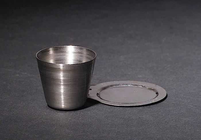 CRUCIBLES, STAINLESS STEEL, WITH LID, 25ML