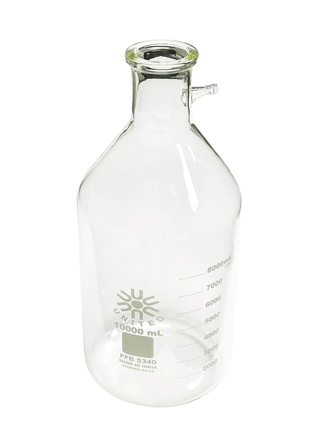 FILTERING BOTTLE 10000ML BOROSILICATE GLASS