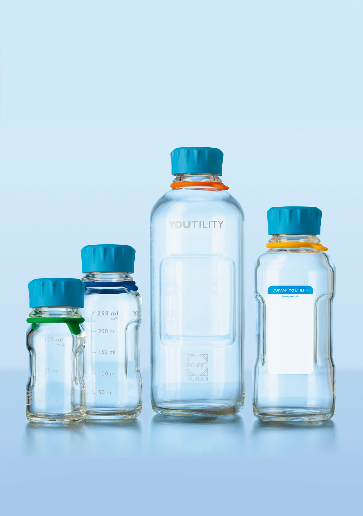 YOUTILITY Bottle GL45 250ML PP CAP
