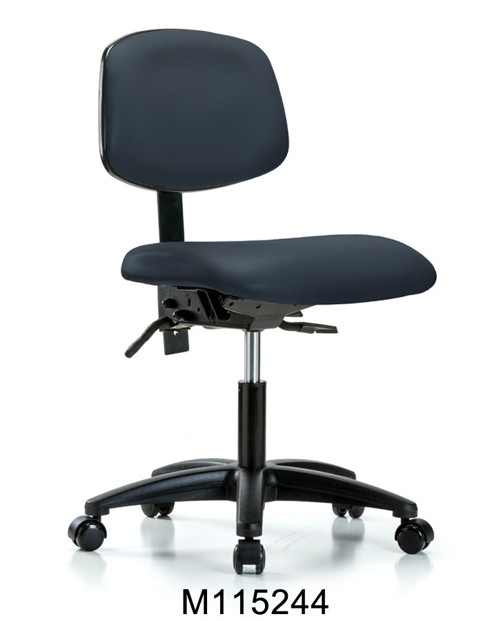 Vinyl Desk Hi Chair RG Casters
