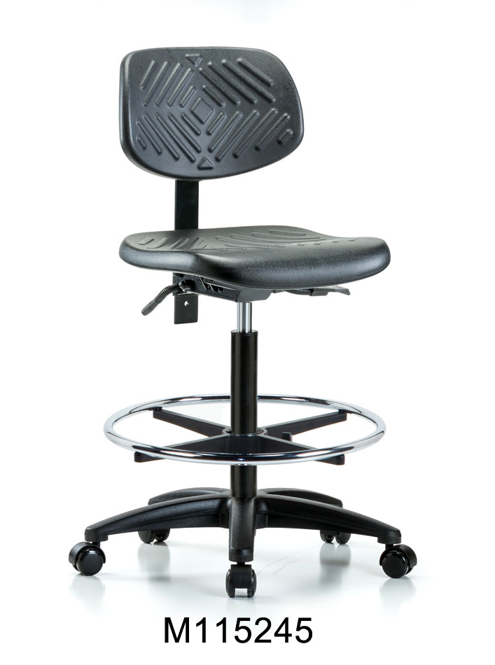 Poly High Hi Chair RG CF Casters