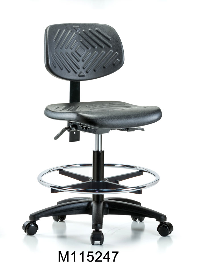 Poly Med Hi Chair RG CF Casters