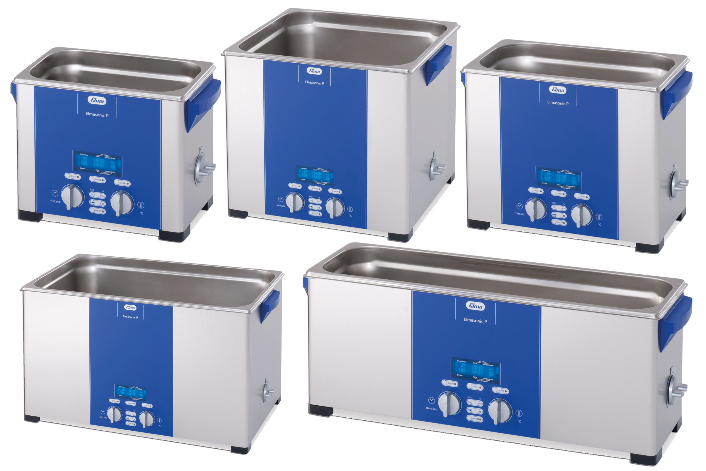 P60H Ultrasonic Cleaner w/ hea w/ heat, drain adj. power