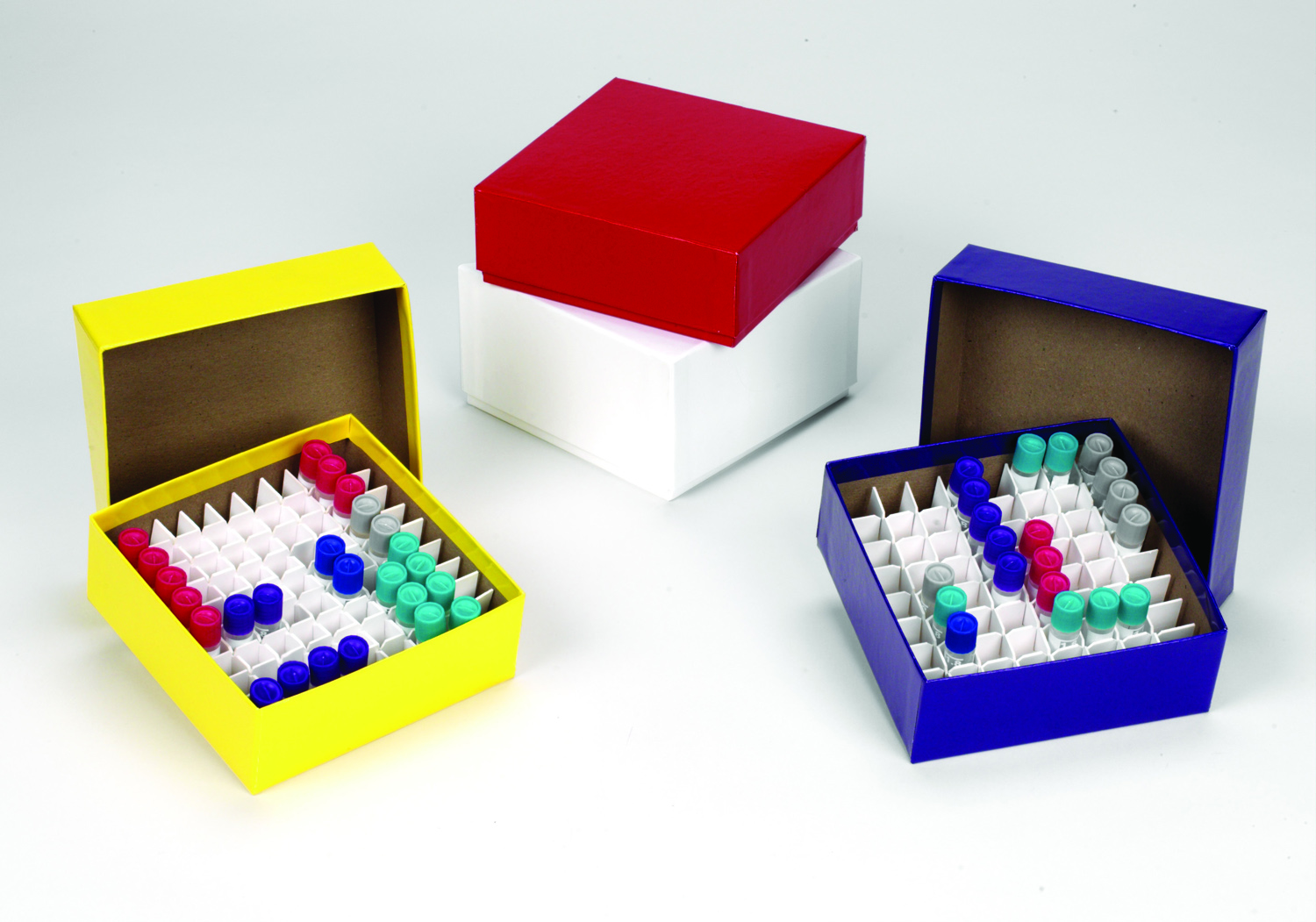 CARDBOARD CRYOGENIC BOX & LID 50MM ASSORTED COLORS