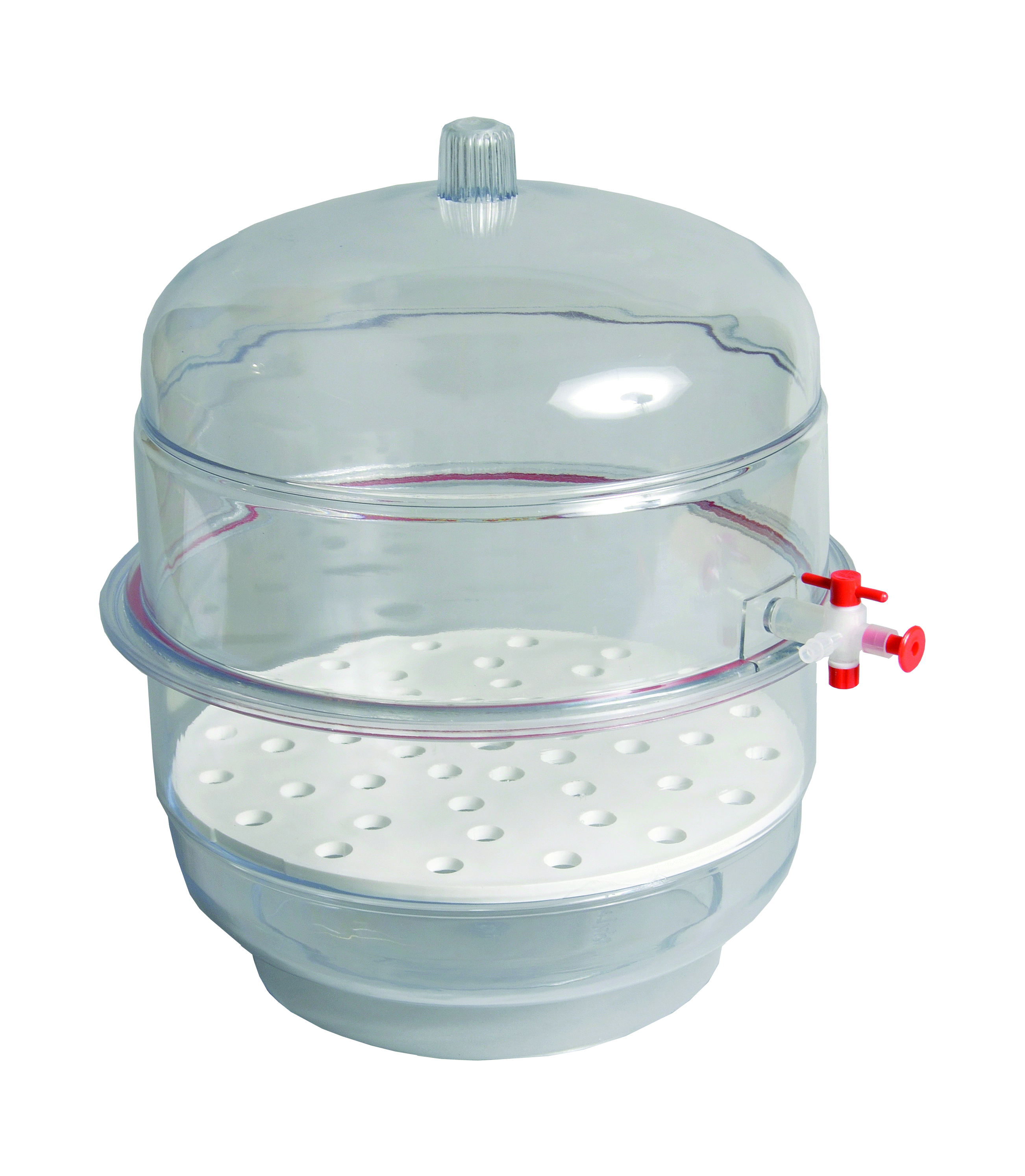 DESICCATOR, VACUUM, CLEAR BASE, 8""