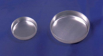 "ALUMINUM WEIGHING DISH 80ML 73MM X 11/16""D DISP SMOOTH"