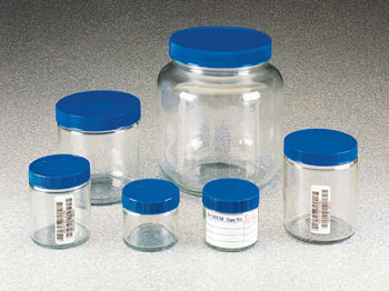 SHORT WIDE-MOUTH CLEAR GLASS JAR 500ml 300 SER PRECLEANED