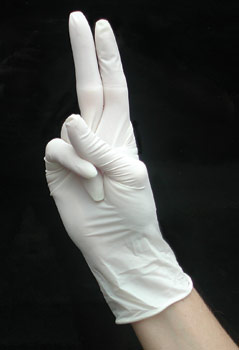 GLOVES LATEX SMALL POWDERED