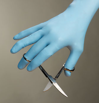 NITRILE GLOVES LIGHT BLUE PWD FREE SMALL ENHANCED DURABLITY