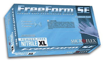 NITRILE FREE-FORM GLOVES SMALL POWDER FREE