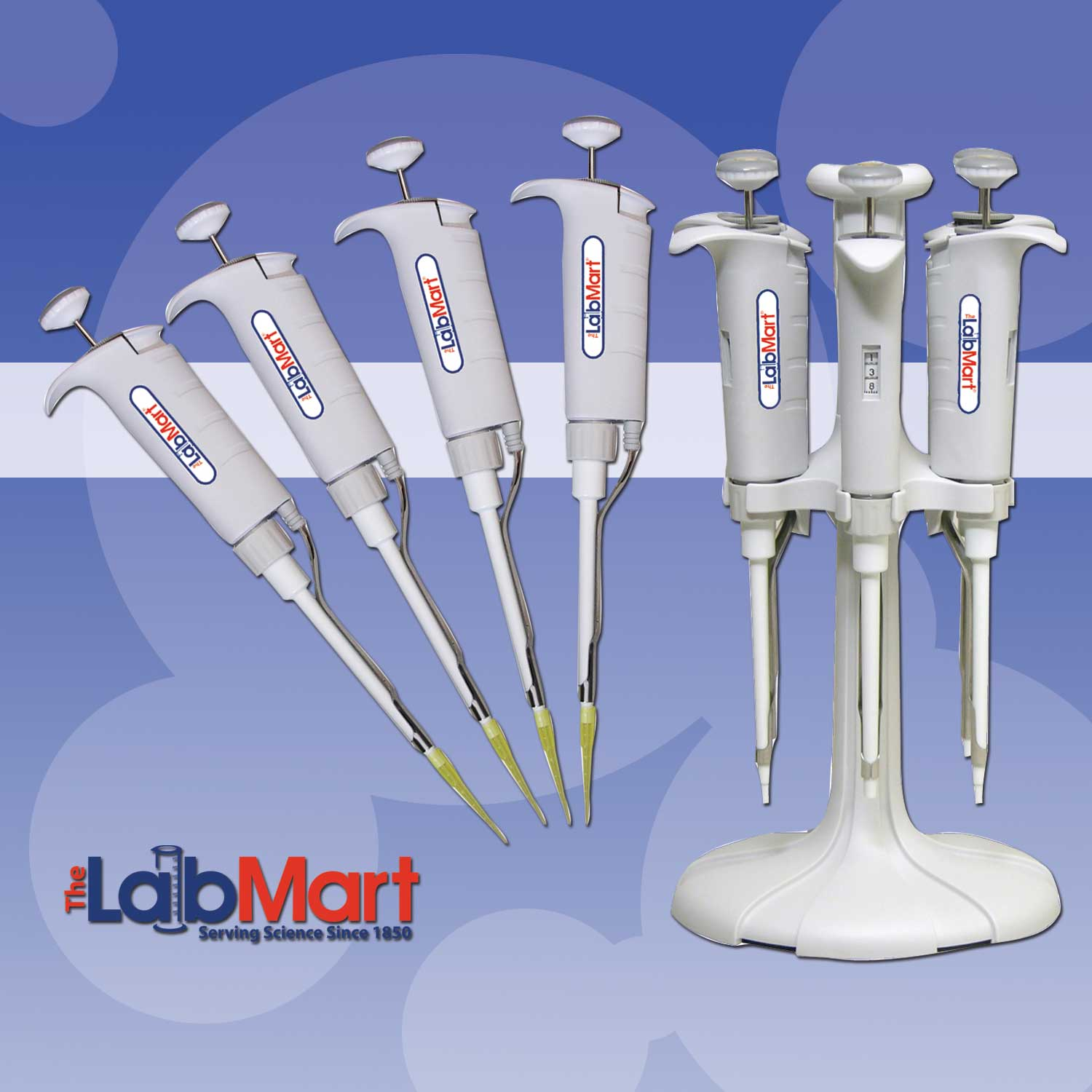 LABMART PROPETTE 4 PIPETTES W/ STAND KIT