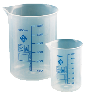 GRAD. BEAKERS 10ML POLYPROPYLE