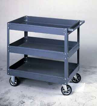 18X36in 2 TRAY LAB CART HEAVY DUTY 1000LBS CAP