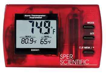 ALARM THERMOMETER/HYGROMETER w/NIST CERTIFICATE