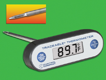 TRACEABLE T-HANDLE THERMOMETER WATERPROOF PIERCING W/1C ACC.