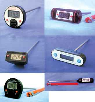 LONG STEM (8 in.) DIGITAL TRACEABLE THERMOMETER