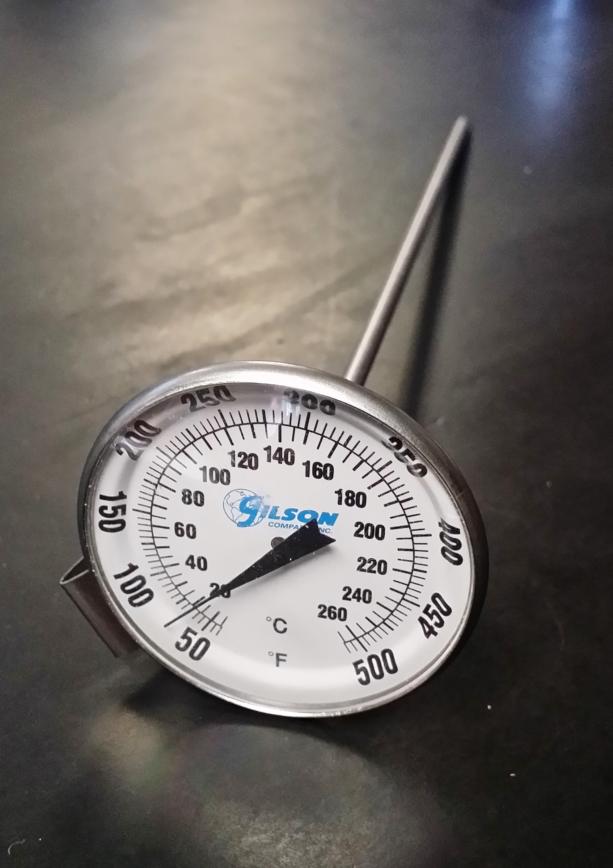 BI-METAL THERM 50 TO 500F 2IN DIAL X 8IN STEM DUAL SCALE