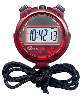 LIGHTWEIGHT STOPWATCH IN RED