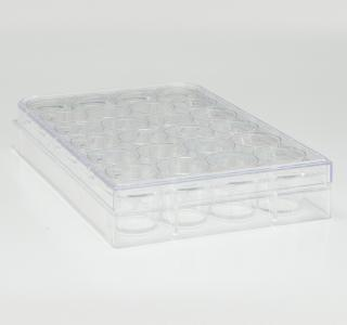 CELL CULTURE PLATE 24 WELL W/LID PS STERILE